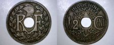 Buy 1937 French Indochina Half Cent World Coin - Vietnam