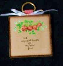 Buy Wall Plaque Friendship gift brown French Country Inspirational
