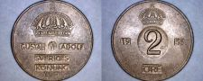 Buy 1953 Swedish 2 Ore World Coin - Sweden