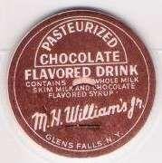Buy New York Glens Falls Milk Bottle Cap Name/Subject: M.H. William's Jr. Choc~307