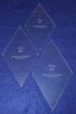 "Buy Quilt Templates-60 Degree Diamond Set-,8"",9"",10"" 1/8"" w/guideline holes"