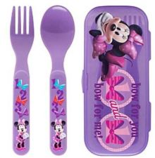 Buy Minnie Mouse Fork & Spoon W/Travel Case - Eco Friendly Lunch Box Use - New!