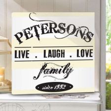 Buy Live.Laugh.Love Canvas Print - Free Personalization