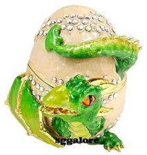 Buy Collectible RUCINNI Swarovski Crystals BeJeweled DRAGON and EGG Trinket BOX