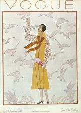 Buy Vogue 1926 Cover Print Lady Doves Pigeons by Marty Art Deco 1984 original print