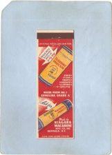Buy New York Buffalo Matchcover Niagara Macaroni Mfg Co Inc w/Info Inside ny_b~2815