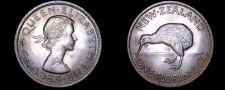 Buy 1962 New Zealand 1 Florin World Coin