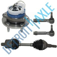 Buy 4 pc Set: Front Left CV Axle Shaft + 2 Outer Tie Rod + Wheel Hub Bearing w/ ABS