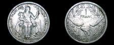 Buy 1949 New Caledonia 1 Franc World Coin