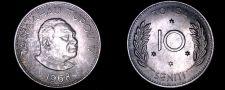 Buy 1968 Tonga 10 Seniti World Coin