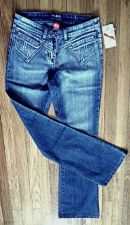 Buy Boot Cut Stretch Blue MGY JEANS 95% Cotton & Rhinestones, Tall Women SIZE 7 NWT