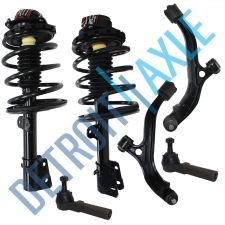 Buy 6 pc Set Front Ready Strut + Lower Control Arm and Ball Joint Assembly + Tie Rod