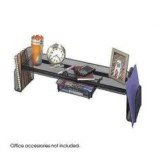 Buy Safco Products Onyx Mesh Off-Surface Shelf Black Office Product Desk Supplies