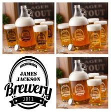 Buy Brewery Growler Set - Free Personalization