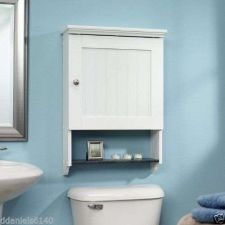 Buy BathRoom Wall Mount Cabinet Soft White Finish Furniture Sauder Wood