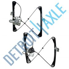 Buy Pair of 2 NEW Front Left and Right Window Regulator Assembly w/ Motor - Sedan