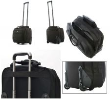 "Buy New Olympia 16.5"" Business Travel Rolling Carry-On Wheeled Laptop Case Tote Bag"