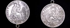 Buy 1907-FG JR Peruvian 1/2 Sol World Silver Coin - Peru - Looped