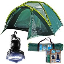 Buy New Outdoor Camping Whetstone Three Person Tent Plus 2-in-1 Light and Fan Combo