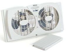 Buy Holmes Dual Blade Twin Window Fan Airflow Thermostat Cool Draws Safe Desk Table