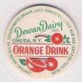 Buy New York Oneida Milk Bottle Cap Name/Subject: Dewan Dairy Inc. Orange Drin~65