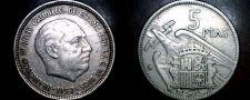 Buy 1957 (64) Spanish 5 Peseta World Coin - Spain Caudillo
