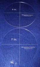 """Buy 2 Piece Circle Set 7"""",8"""" - 1/8"""" Clear Acrylic - Quilting Templates"""