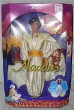 Buy Disney Aladdin in Prince Wedding costume with Abu Monkey doll ship MIN IN Box