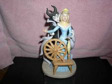 Buy Disney Sleeping Beauty Maleficent Spinning Wheel Porcelain Busque figurine