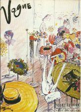 Buy Vogue 1938 Cover Print Ascot Fashions by Bouche Art Deco 1984 original print