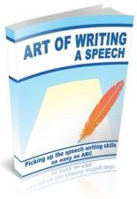 Buy The Art of Writing a Speech Ebook + 10 Free eBooks With Resell rights PDF