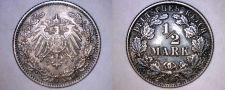 Buy 1905 J German Empire Half (1/2) Mark World Silver Coin - Germany