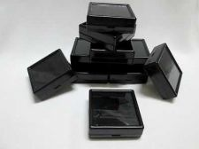 Buy 12 pcs Gem Tool Display Boxes Square Black Box With Lids Top Glass 6 x 6 x 2 cm.