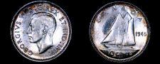 Buy 1945 Canada 10 Cent World Silver Coin - Canada - George VI