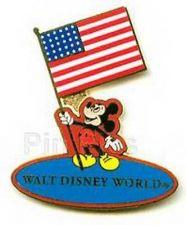 Buy Disney WDW - Mickey Holding USA Flag Pin/Pins