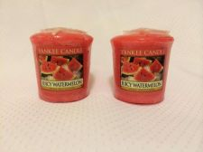 Buy Yankee Votive Candle, Lot Of 2! New Watermelon Scent, Authentic Brand Name.