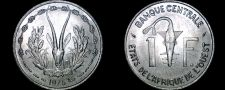 Buy 1975 West African 1 Franc World Coin - West African States