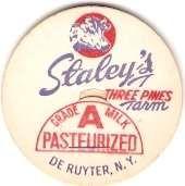 Buy New York De Ruyter Milk Bottle Cap Name/Subject: Staley's Three Pines Farm~413