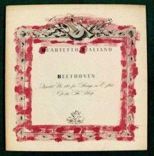 Buy BEETHOVEN ~ Quartetto Italiano Quartet for Strings, No. 10 in E flat LP