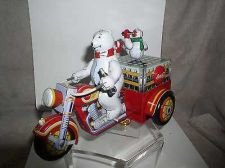 Buy Motorcycle with Polar Bear Tin wind up Coca-Cola toy with original key only