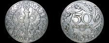 Buy 1923 Polish 50 Groszy World Coin - Poland