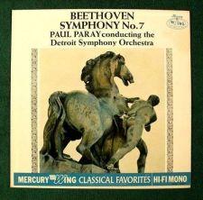 Buy BEETHOVEN Symphony No. 7 / Paul Paray ~ Detroit Symphony Classical LP