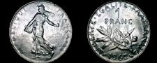 Buy 1962 French 1 Franc World Coin - France