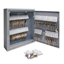 Buy Secure Key Cabinet Steel Box 60 Keys Office Safety StorageLock Boxes Holder New