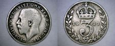 Buy 1921 Great Britain 3 Pence World Silver Coin - UK