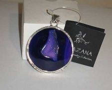Buy NWT Khazana Large Round Purple Druzy Quartz Pendant .925 Sterling Silver New Tag