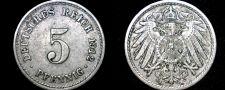 Buy 1912 A German 5 Pfennig World Coin - Germany