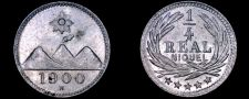 Buy 1900-H Guatemalan Quarter 1/4 Real World Coin - Guatemala