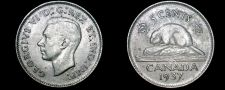 Buy 1937 Canadian Nickel 5 Cent World Coin - Canada