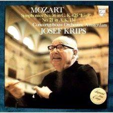 Buy MOZART ~ Symphonies No. 36 In C / N0. 21 In A Josef Krips Classical LP